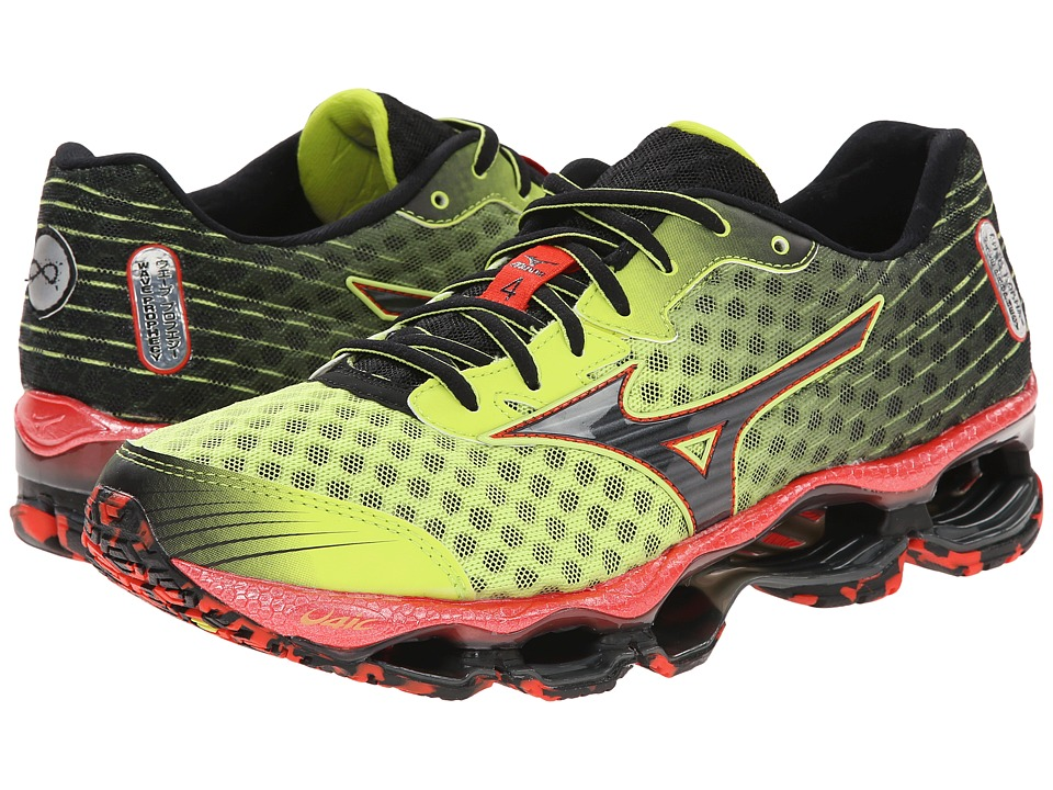 Mizuno - Wave Prophecy 4 (Lime Punch/Black) Men's Shoes