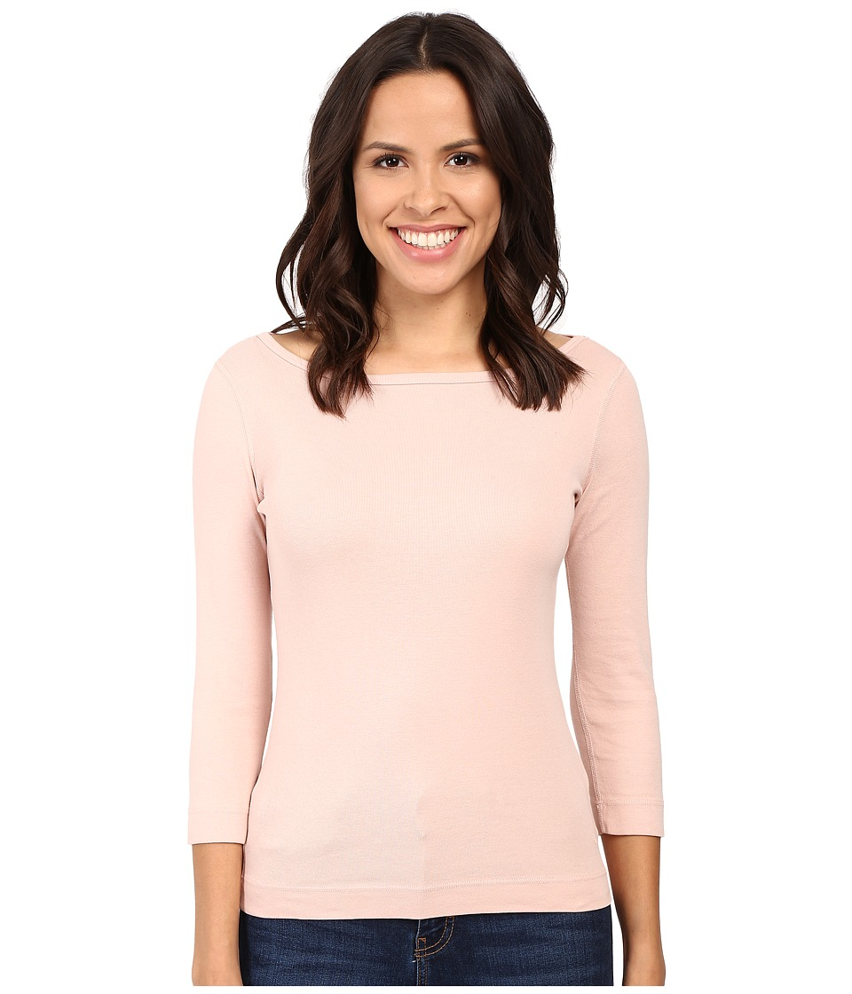 Three Dots 3/4 Sleeve British Tee (Pink Petal) Women