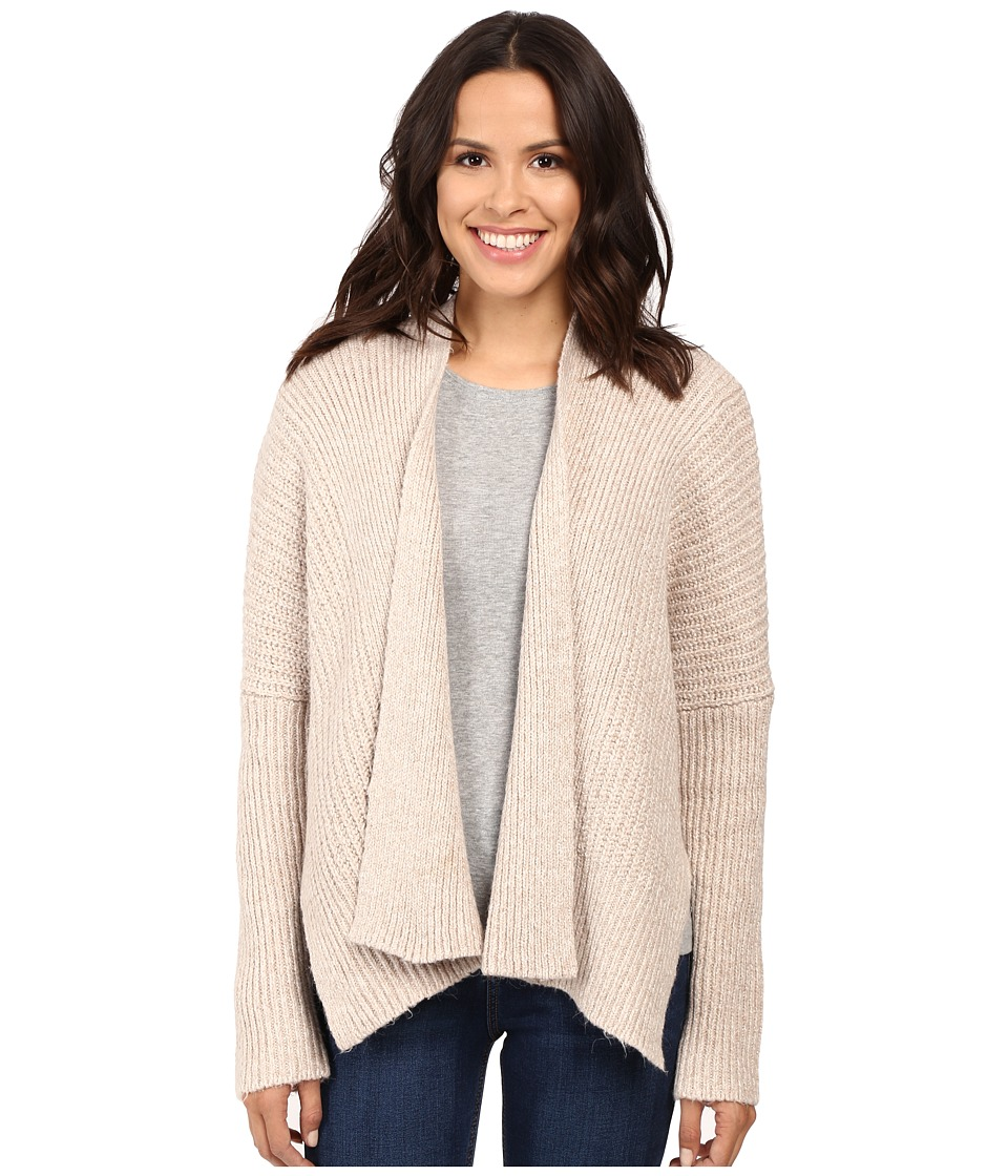 Three Dots - Boxy Cardigan (Heathered Dune) Women's Sweater