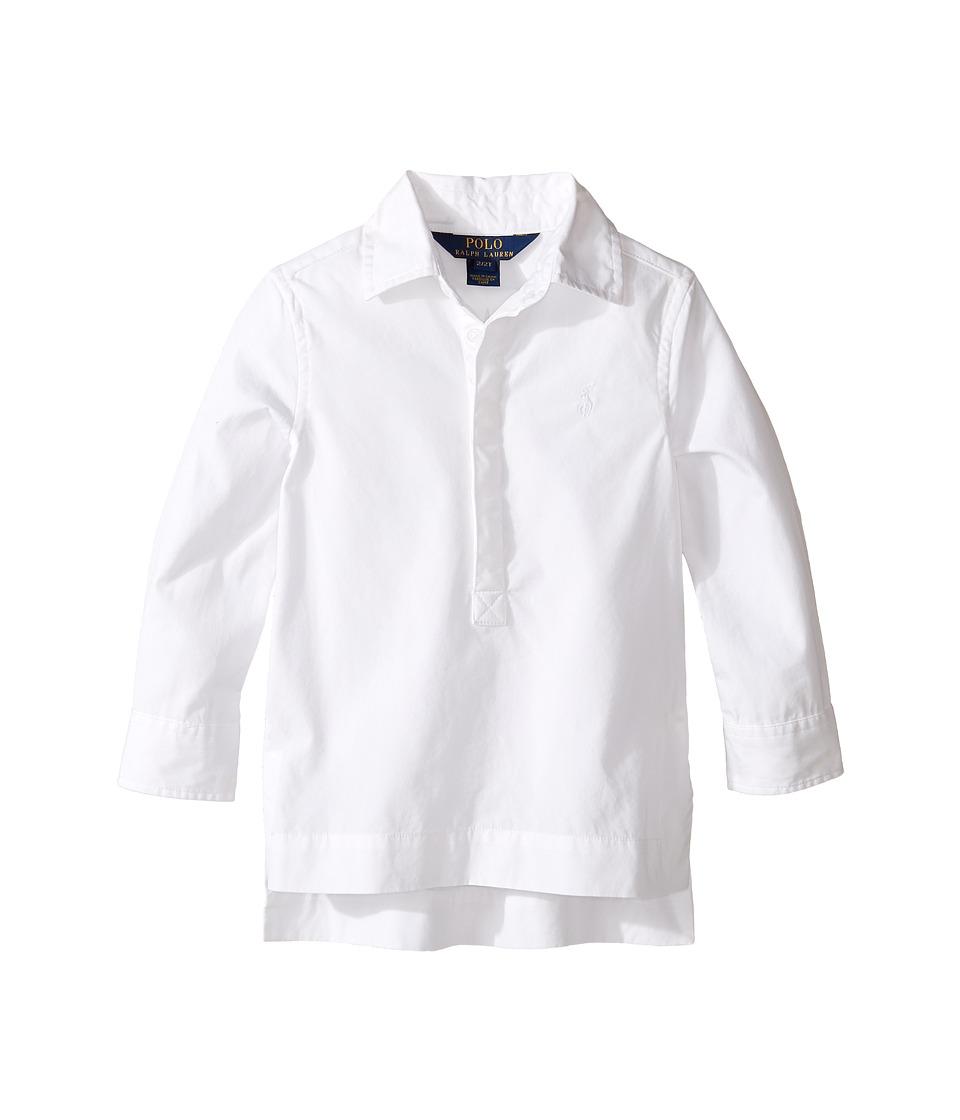 Polo Ralph Lauren Kids - Batiste Tunic Top (Toddler) (White) Girl's Clothing