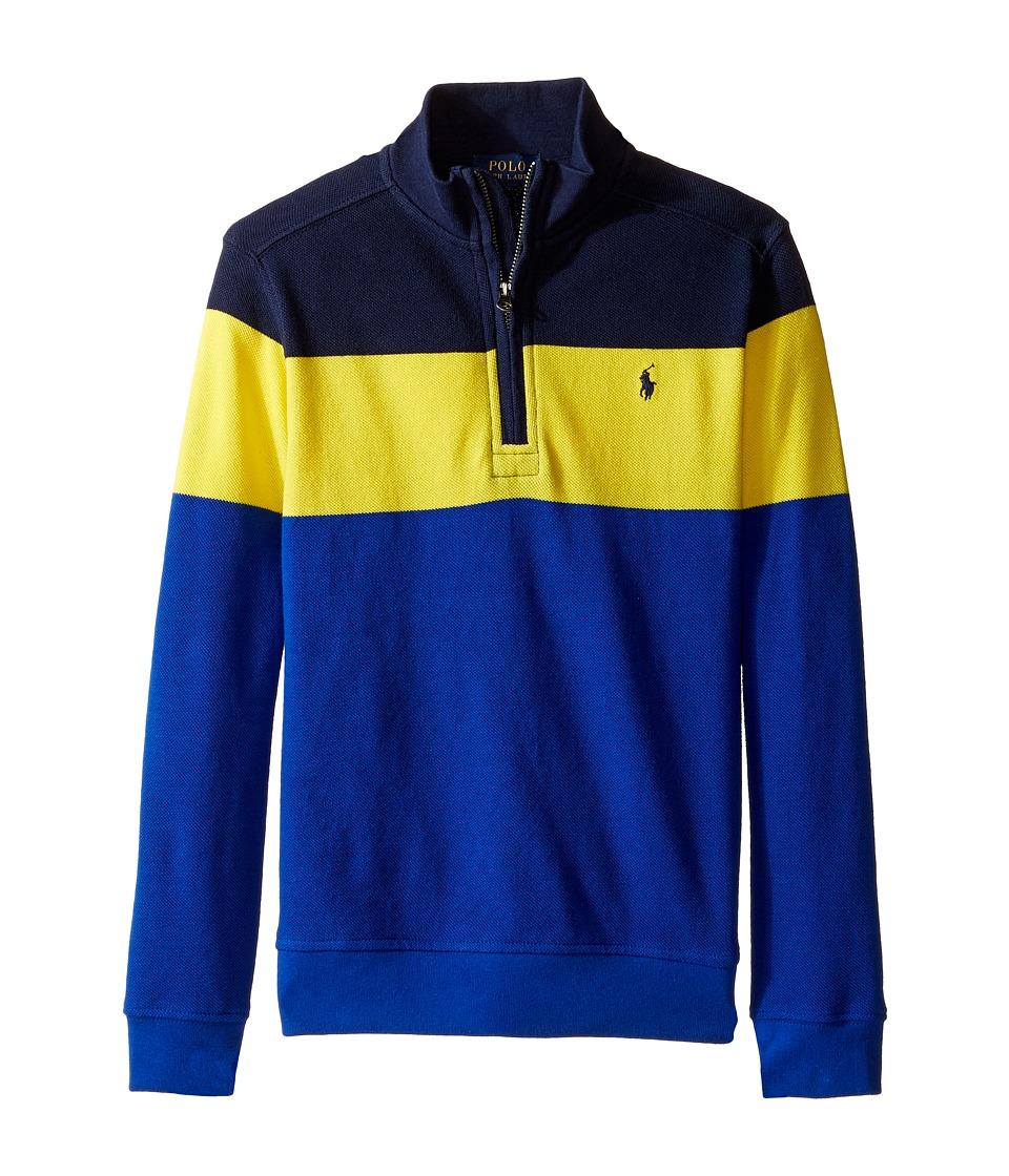 Polo Ralph Lauren Kids - Yarn-Dyed Long Sleeve 1/2 Zip (Little Kids/Big Kids) (French Navy) Boy's Long Sleeve Pullover