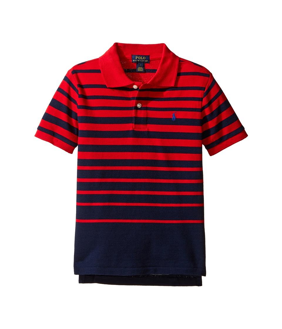 Polo Ralph Lauren Kids - Yarn-Dyed Mesh Short Sleeve Shirt (Little Kids/Big Kids) (Cruise Red Multi) Boy's Short Sleeve Pullover