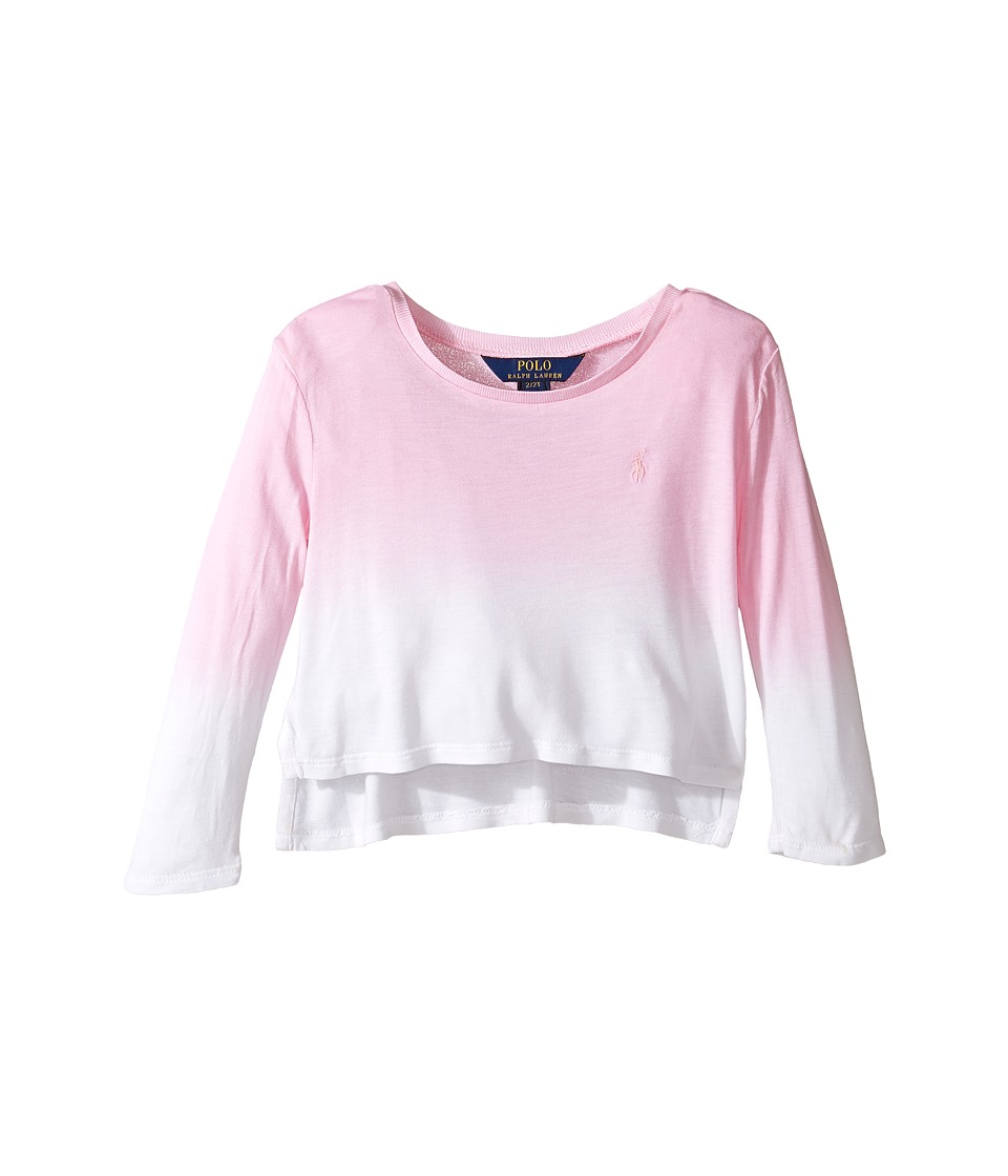 Polo Ralph Lauren Kids - Lux Jersey Dip-Dye Tee (Toddler) (Carmel/Pink/White) Girl's T Shirt