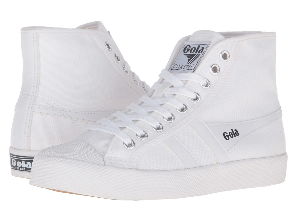 Gola Coaster High (White/White) Women