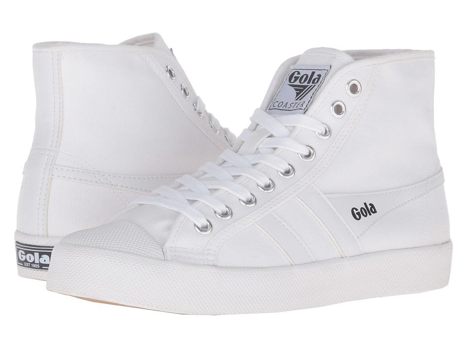 Gola - Coaster High (White/White) Women's Shoes
