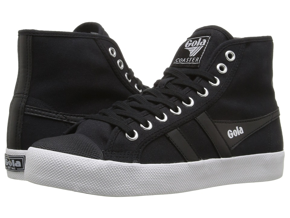 Gola - Coaster High (Black/Black/White) Women's Shoes