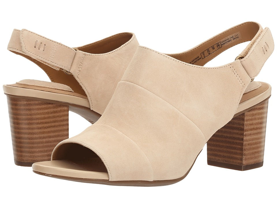Clarks - Ralene Shine (Sand Suede) Women's Shoes