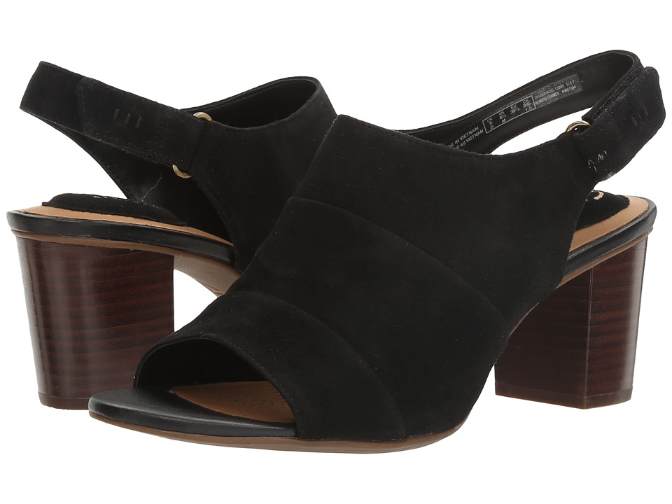 Clarks - Ralene Shine (Black Suede) Women's Shoes