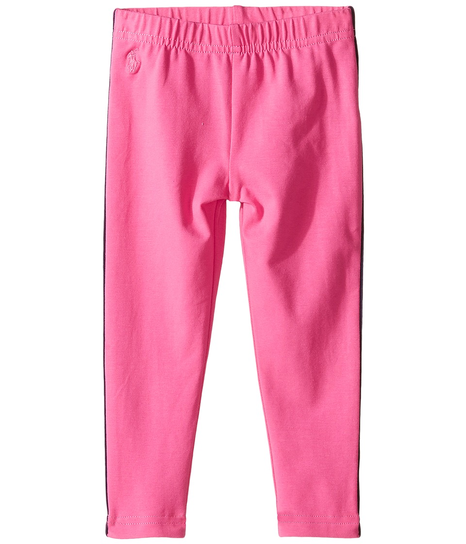 Polo Ralph Lauren Kids - Jersey Piped Leggings (Toddler) (Desert Pink/French Navy) Girl's Casual Pants