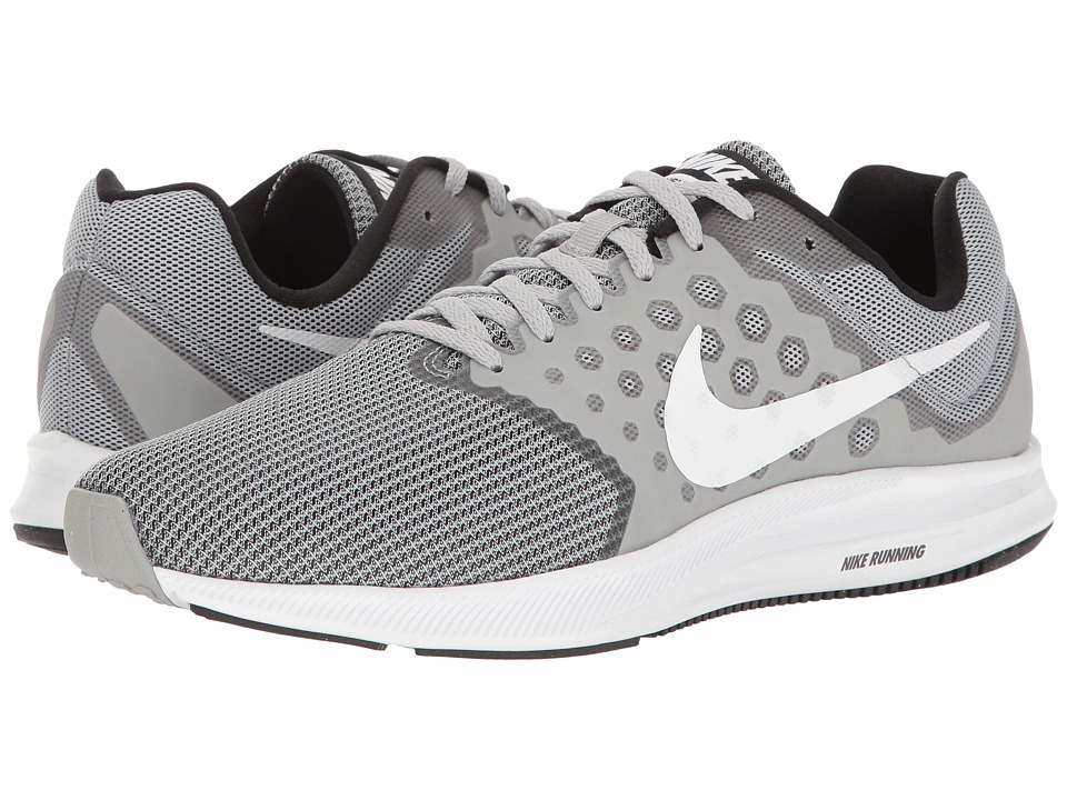 Nike - Downshifter 7 (Wolf Grey/White/Black) Men's Running Shoes