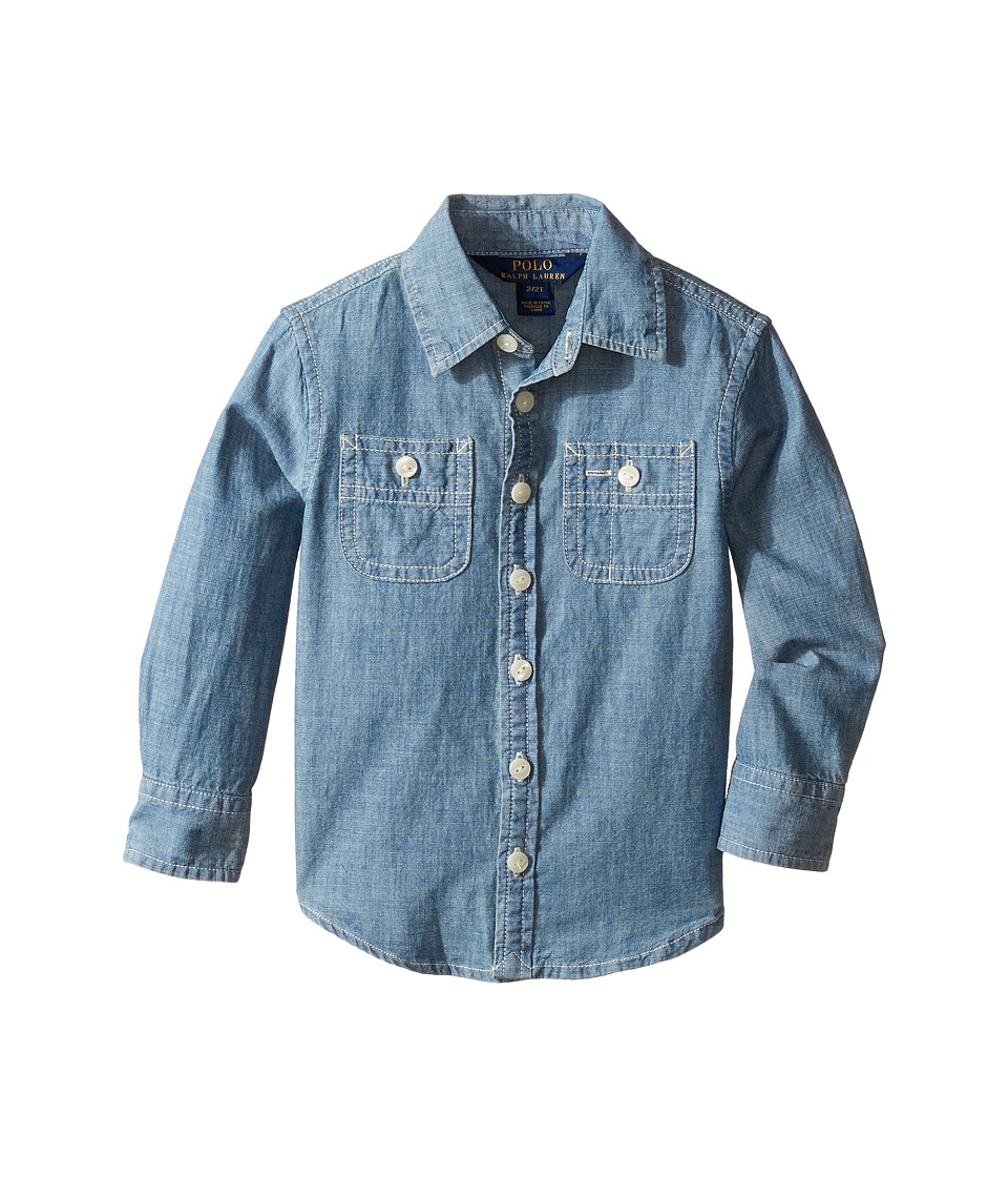 Polo Ralph Lauren Kids - Chambray Top (Toddler) (Indigo) Girl's Clothing