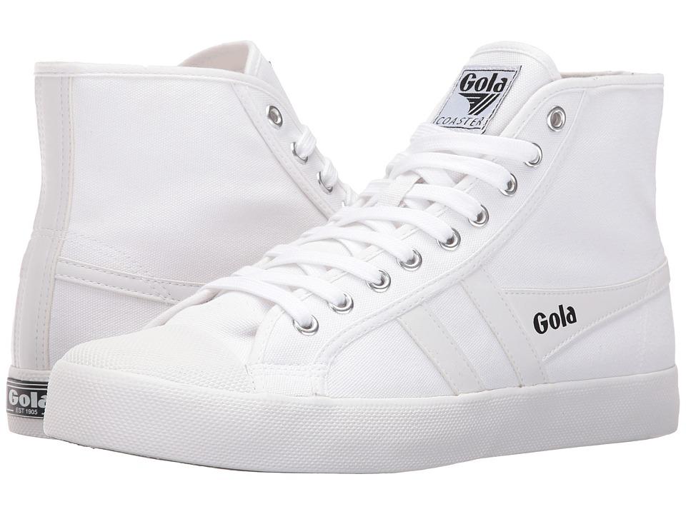 Gola - Coaster High (White/White) Men's Shoes