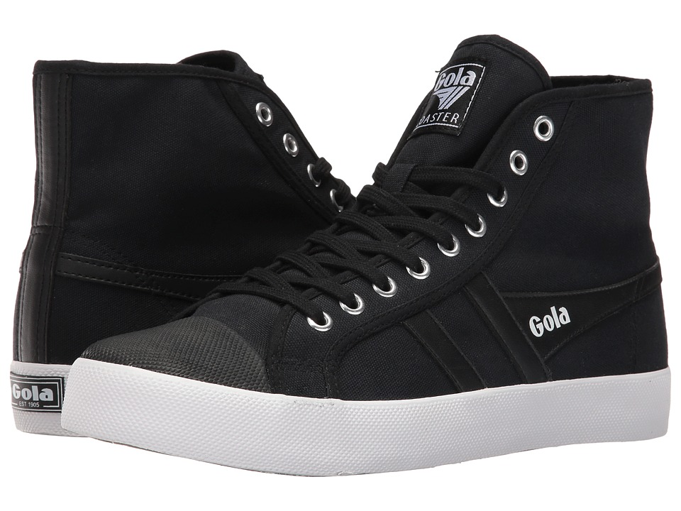 Gola - Coaster High (Black/Black/White) Men's Shoes