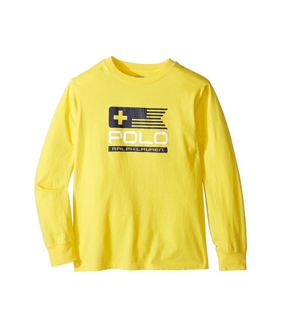 Polo Ralph Lauren Kids - Basic Jersey Graphic T-Shirt (Little Kids/Big Kids) (Active Yellow) Boy's T Shirt