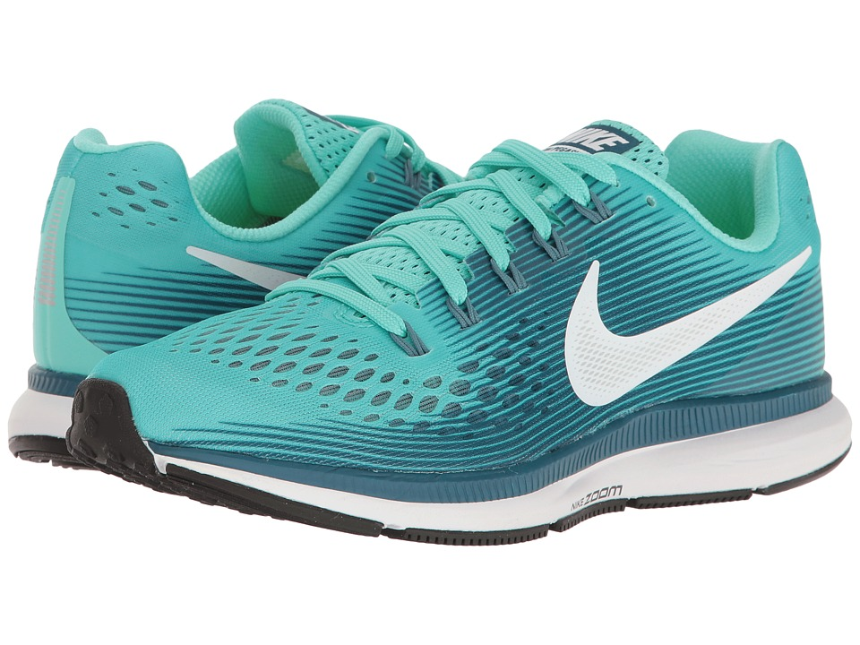 Nike - Air Zoom Pegasus 34 (Hyper Turquoise/White/Legion Blue/Mica Blue) Women's Running Shoes