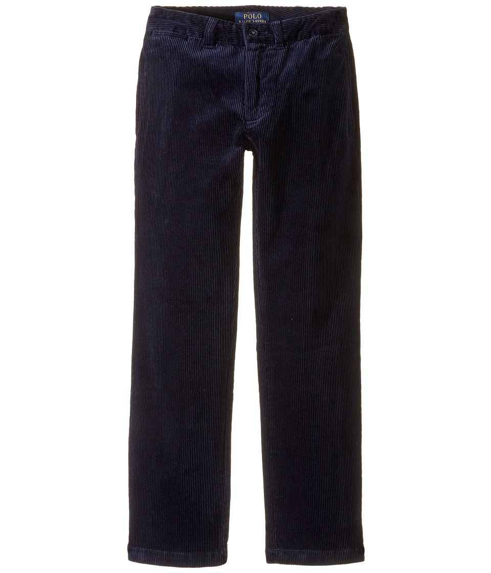 Polo Ralph Lauren Kids - Suffield Stretch Corduroy Pants (Big Kids) (French Navy) Boy's Casual Pants
