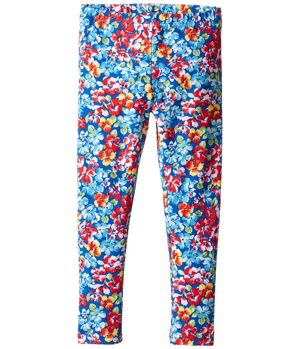 Polo Ralph Lauren Kids - Jersey Floral Leggings (Little Kids) (Navy/Pink Multi) Girl's Casual Pants