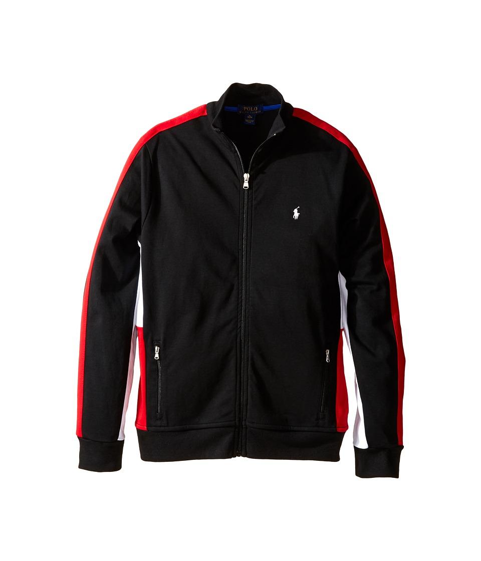 Polo Ralph Lauren Kids - Long Sleeve Full Zip Mock Neck Shirt (Big Kids) (Polo Black) Boy's Long Sleeve Pullover