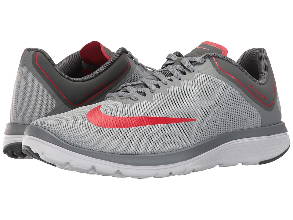 Nike - FS Lite Run 4 (Wolf Grey/University Red/Cool Grey) Men's Running Shoes