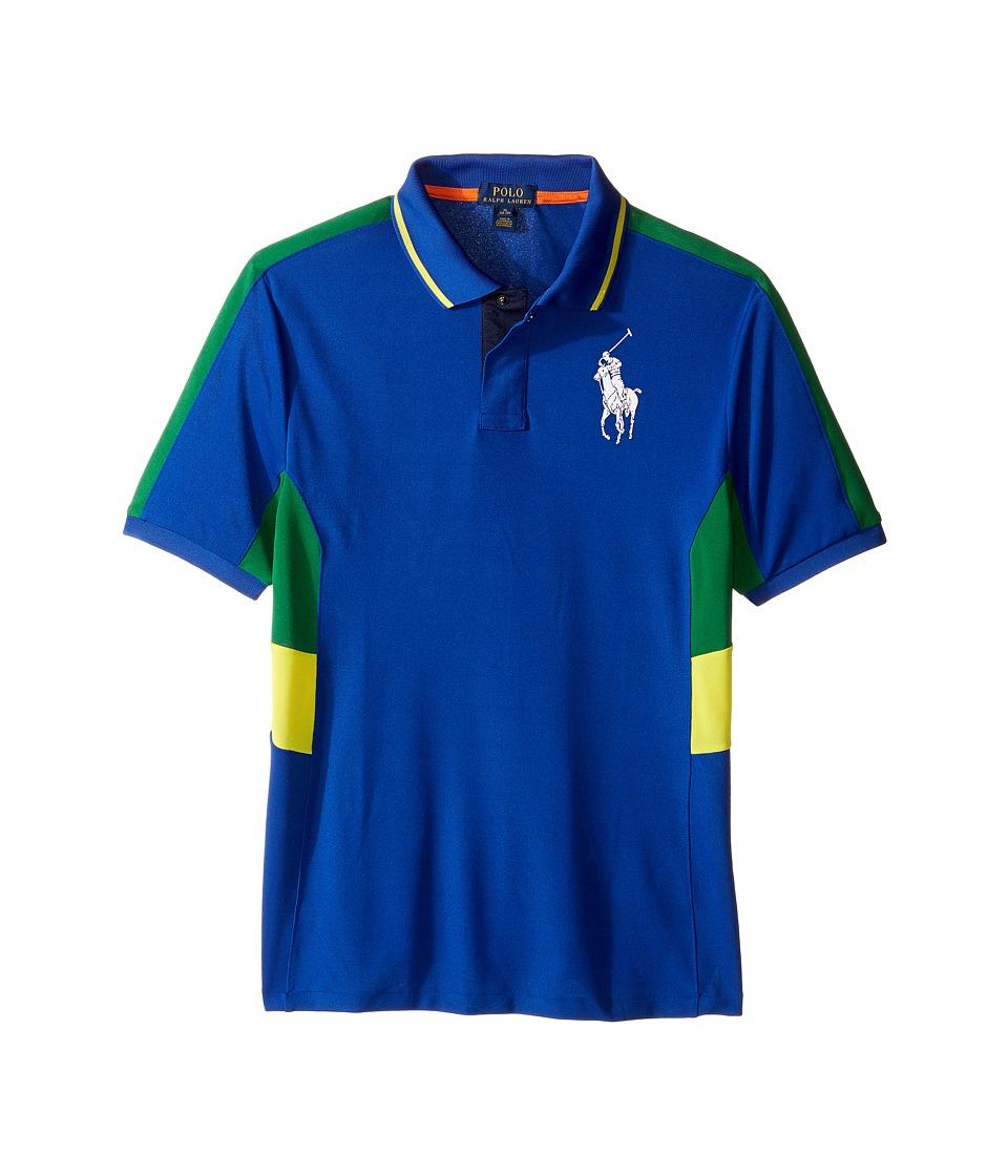 Polo Ralph Lauren Kids - Tech Mesh Pieced Polo (Big Kids) (Sapphire Star) Boy's Short Sleeve Knit