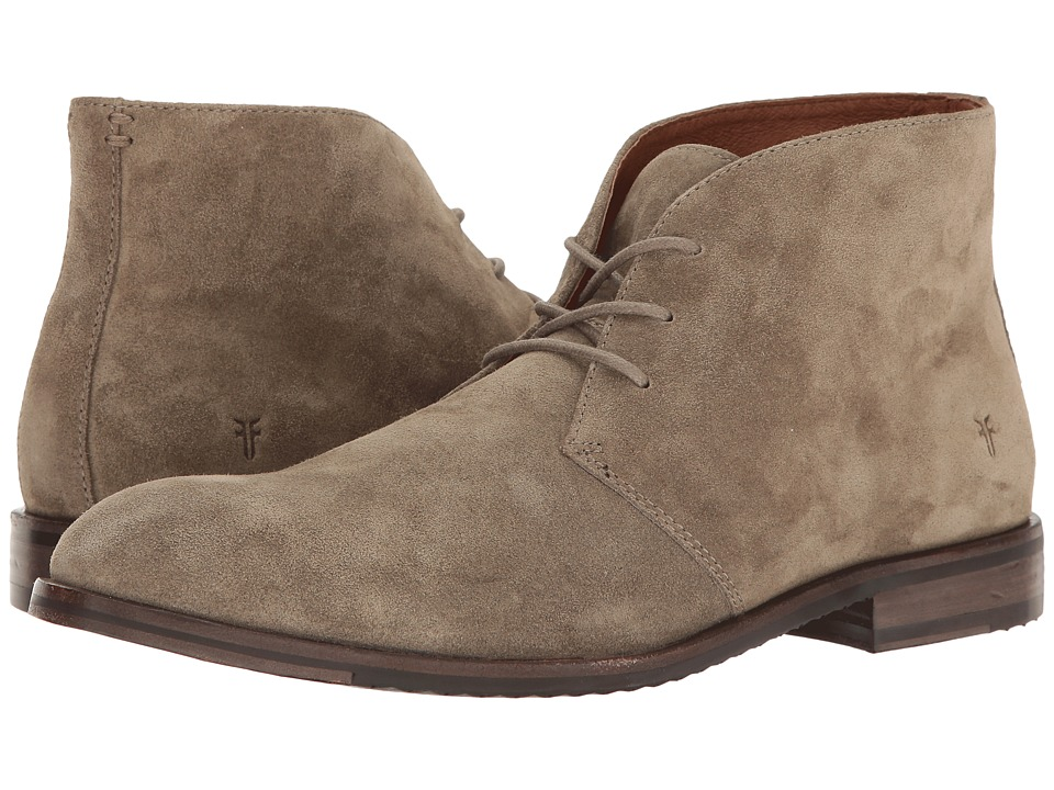 Frye - Sam Chukka (Light Grey Soft Oiled Suede) Men's Lace-up Boots