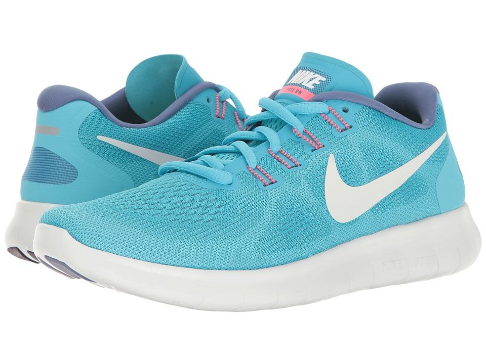 Nike - Free RN 2017 (Chlorine Blue/Off-White/Polarized Blue) Women's Running Shoes