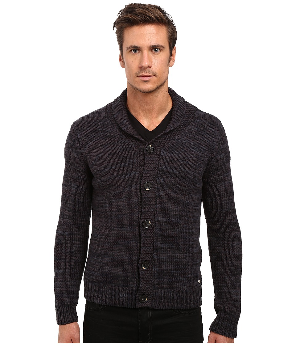 Scotch & Soda - Cardigan in Gradient Yarn (Black Rock) Men's Sweater