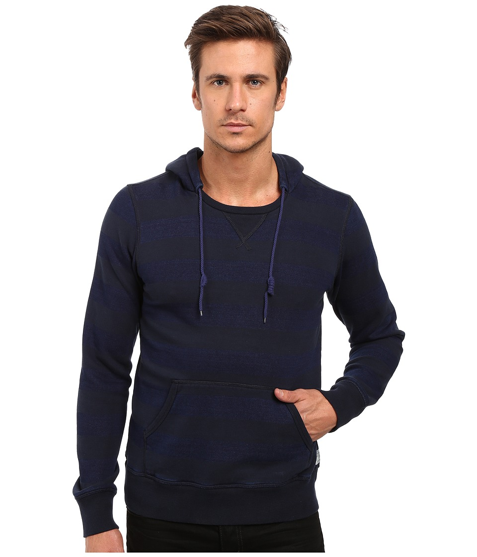 Scotch & Soda - Home Alone Striped Hoodie (Indigo) Men's Sweatshirt
