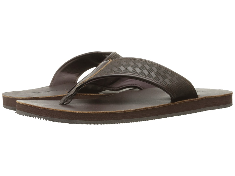 Tommy Bahama Waldon Thong (Dark Brown) Men
