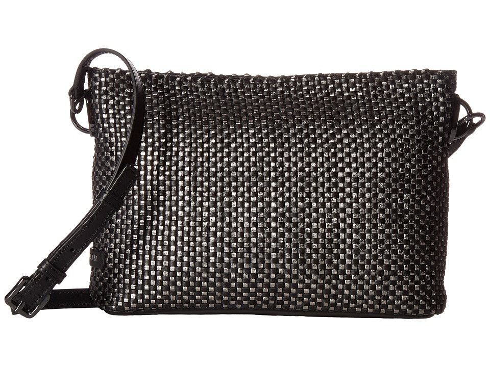 Cole Haan - Benson Woven Crossbody Bag (Black/Gunmetal) Cross Body Handbags