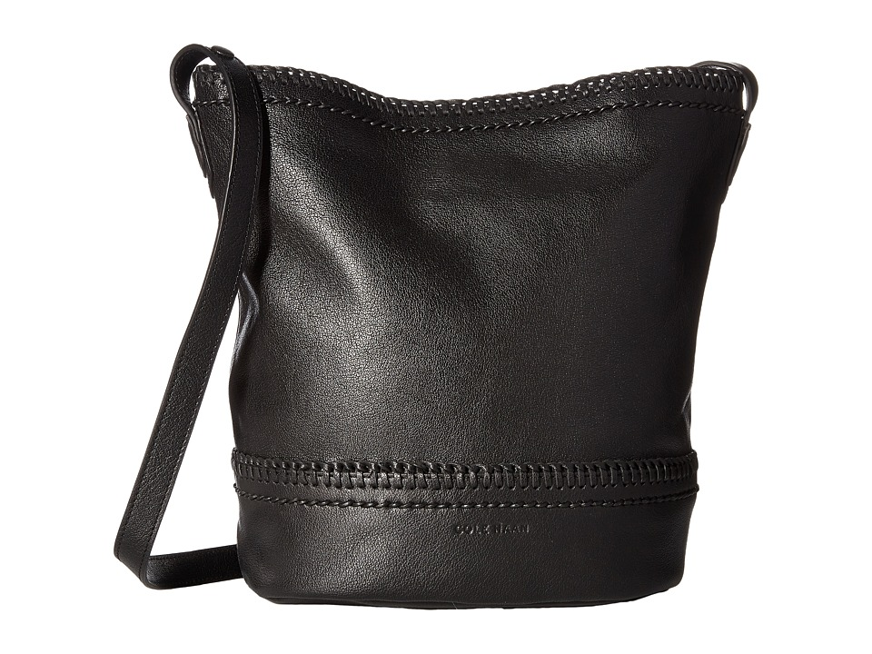 Cole Haan - Shelly Bucket Hobo Bag (Black) Hobo Handbags