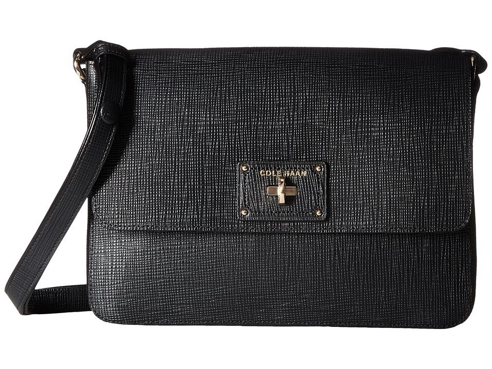 Cole Haan - Jozie Flap Crossbody Bag (Black) Cross Body Handbags
