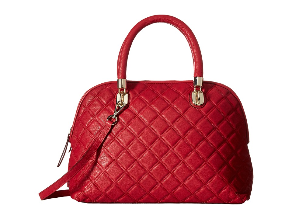 Cole Haan - Benson Quilted Dome Satchel (Crimson) Satchel Handbags