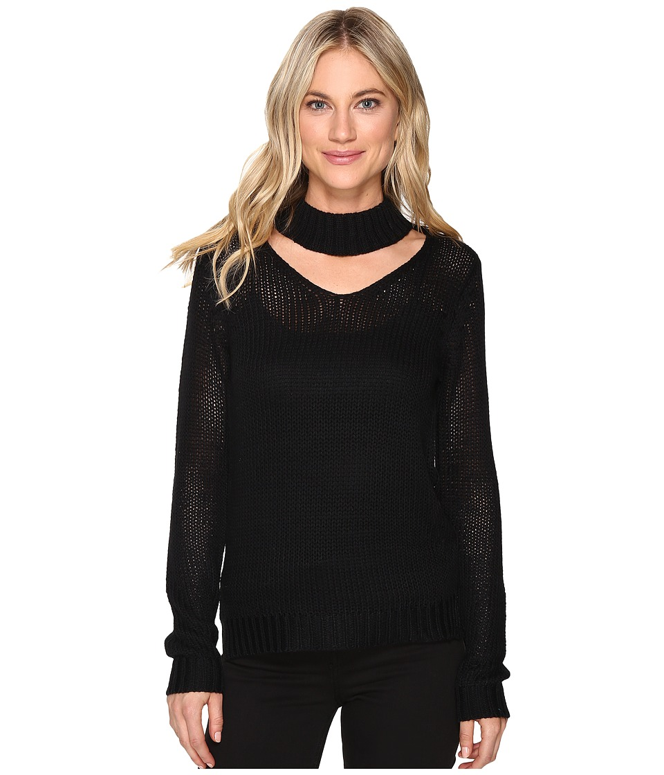 Brigitte Bailey - Zalia Open Neck Sweater (Black) Women's Sweater