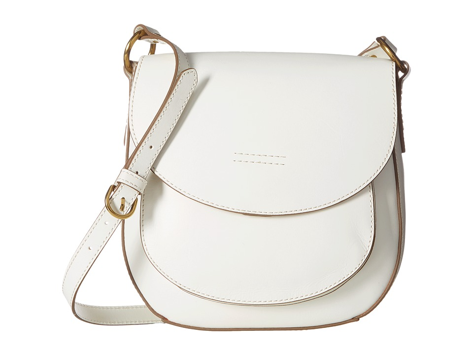 Frye - Harness Saddle (Off-White Smooth Full Grain) Shoulder Handbags