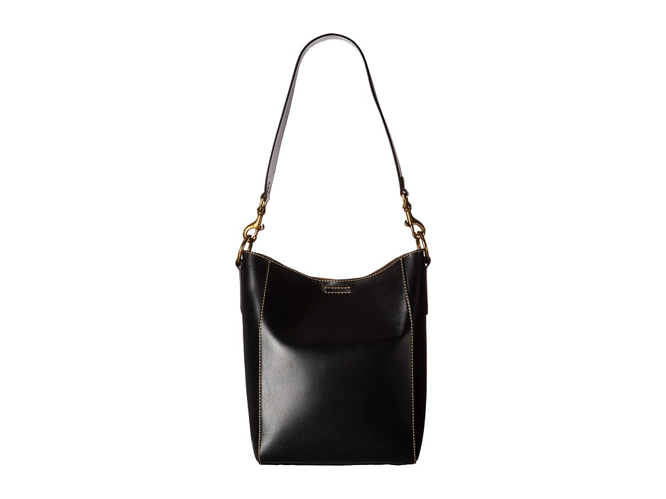 Frye - Harness Bucket (Black Smooth Full Grain) Shoulder Handbags