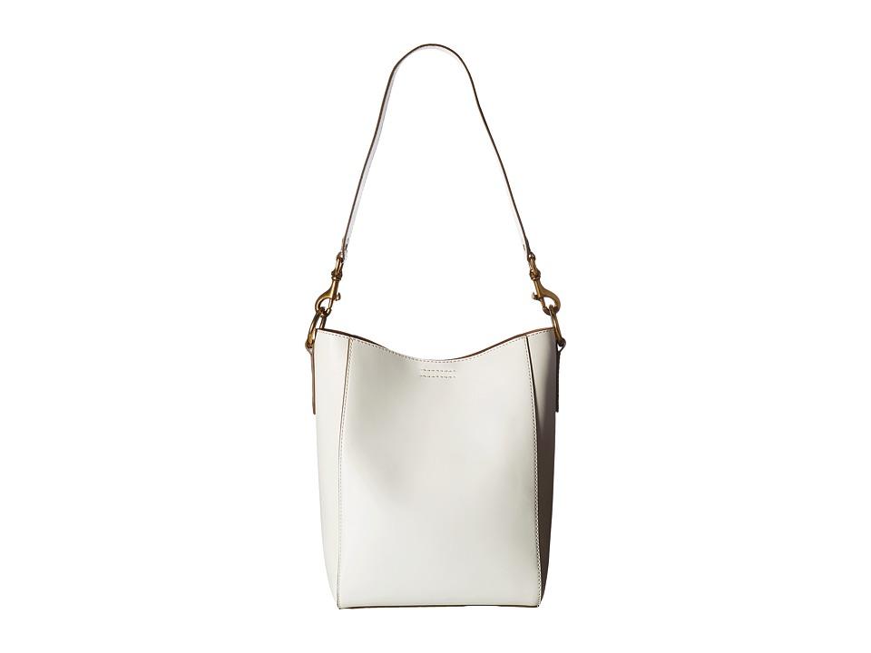 Frye - Harness Bucket (Off-White Smooth Full Grain) Shoulder Handbags