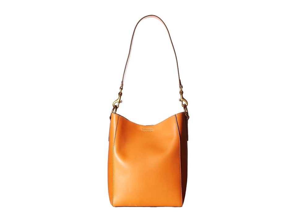 Frye - Harness Bucket (Orange Smooth Full Grain) Shoulder Handbags
