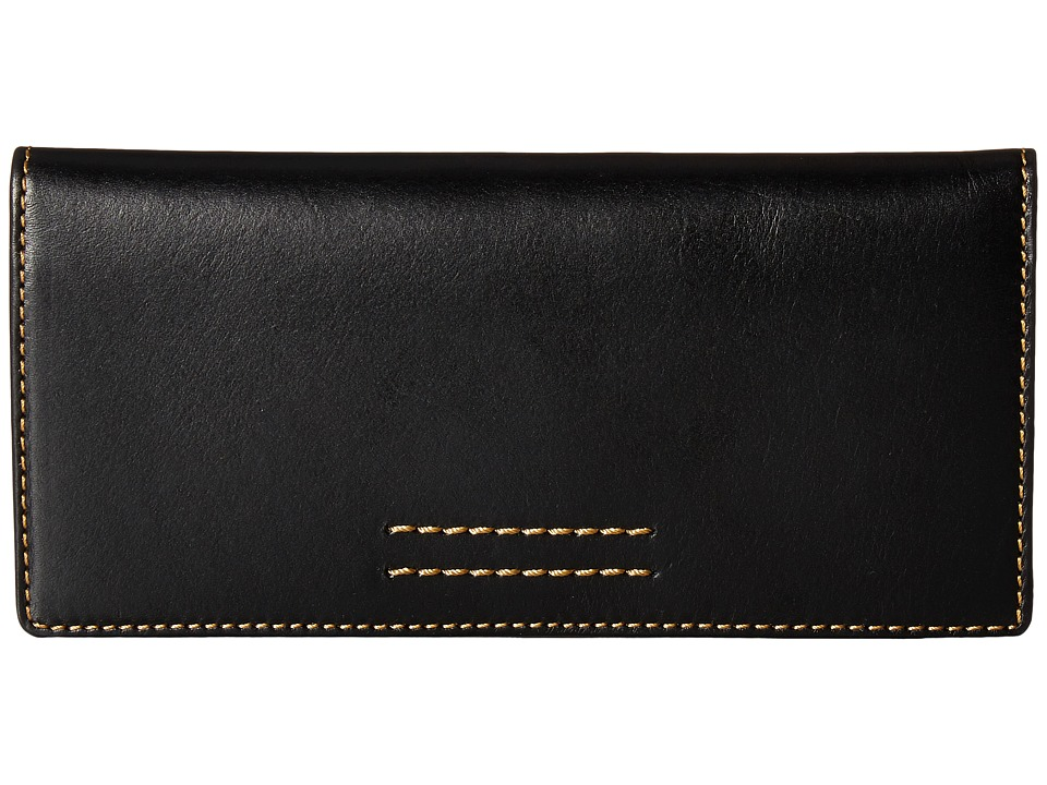 Frye - Harness Wallet (Black Smooth Full Grain) Wallet Handbags