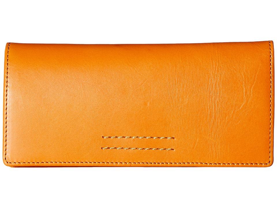 Frye - Harness Wallet (Orange Smooth Full Grain) Wallet Handbags