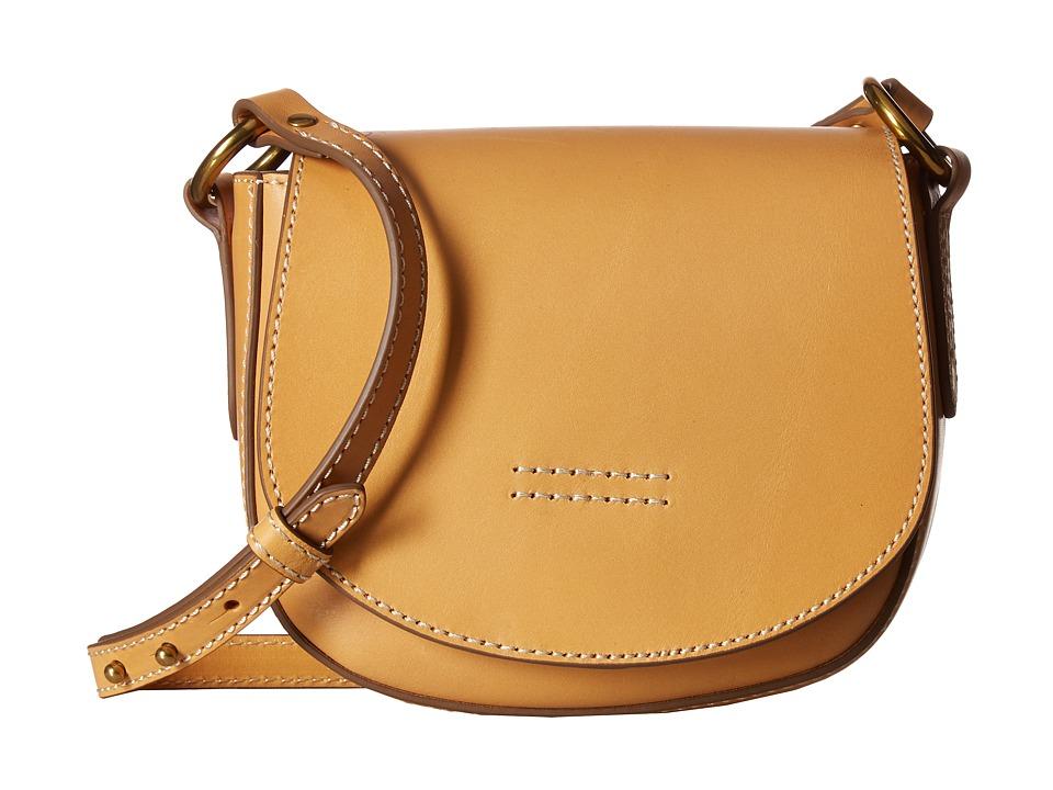 Frye - Harness Small Saddle (Yellow Smooth Full Grain) Shoulder Handbags