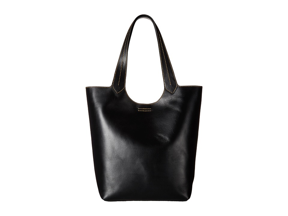 Frye - Harness Tote (Black Smooth Full Grain) Handbags