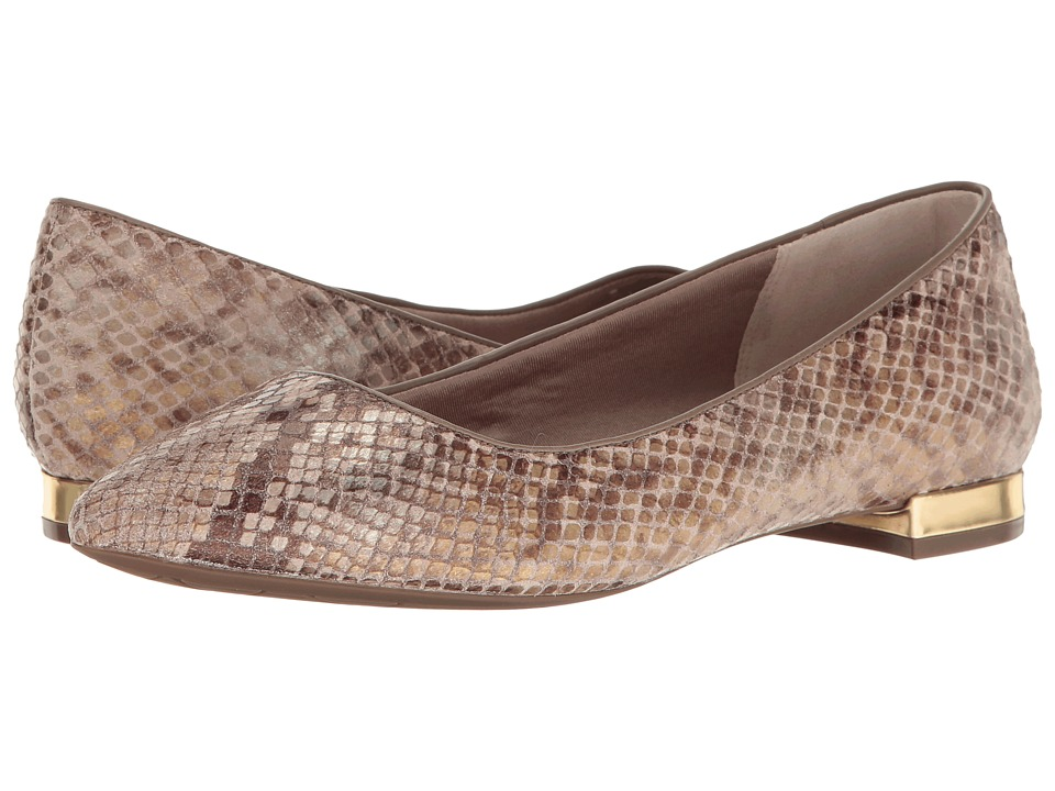 Rockport - Total Motion Adelyn Ballet (Nude AM Lux) Women's Dress Flat Shoes