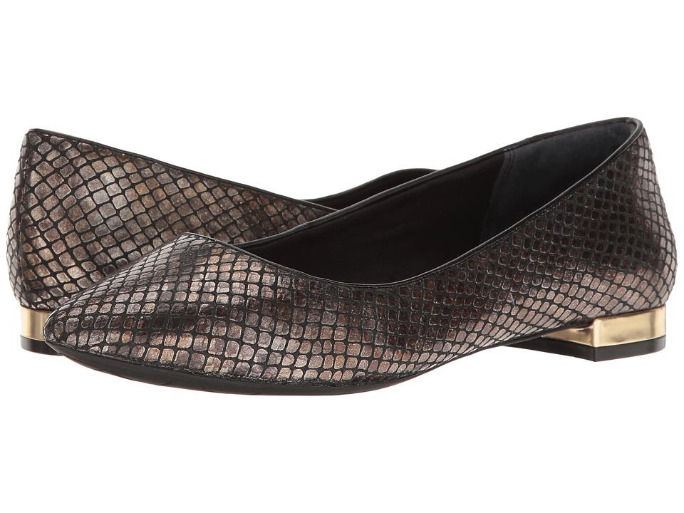 Rockport - Total Motion Adelyn Ballet (Black AM Lux) Women's Dress Flat Shoes