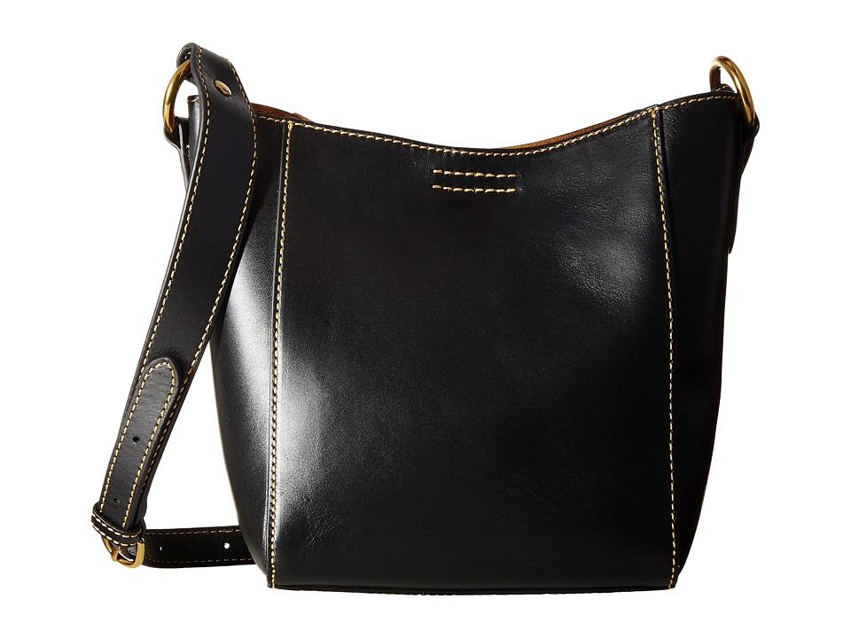 Frye - Harness Crossbody Bucket (Black Smooth Full Grain) Cross Body Handbags