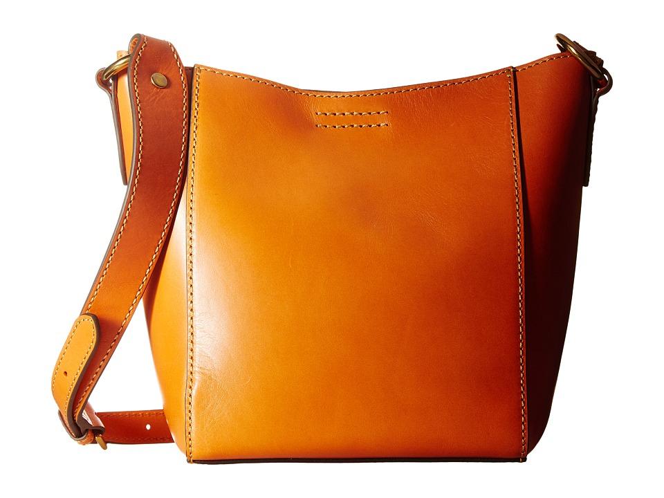 Frye - Harness Crossbody Bucket (Orange Smooth Full Grain) Cross Body Handbags
