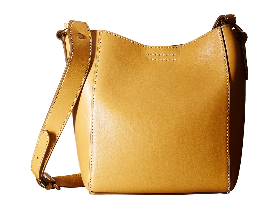 Frye - Harness Crossbody Bucket (Yellow Smooth Full Grain) Cross Body Handbags