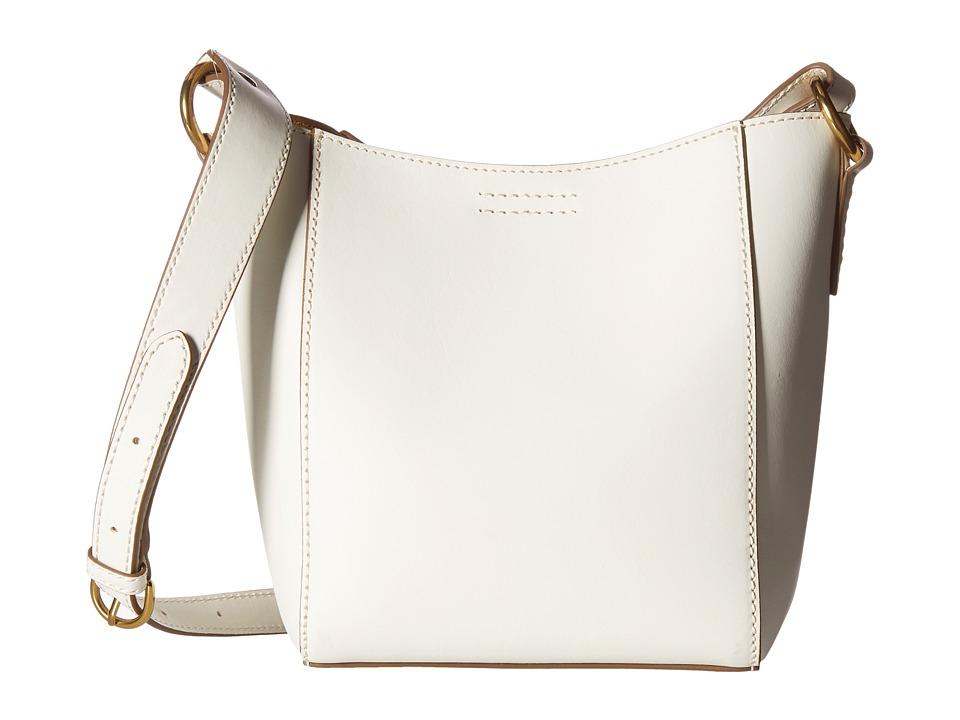Frye - Harness Crossbody Bucket (Off-White Smooth Full Grain) Cross Body Handbags