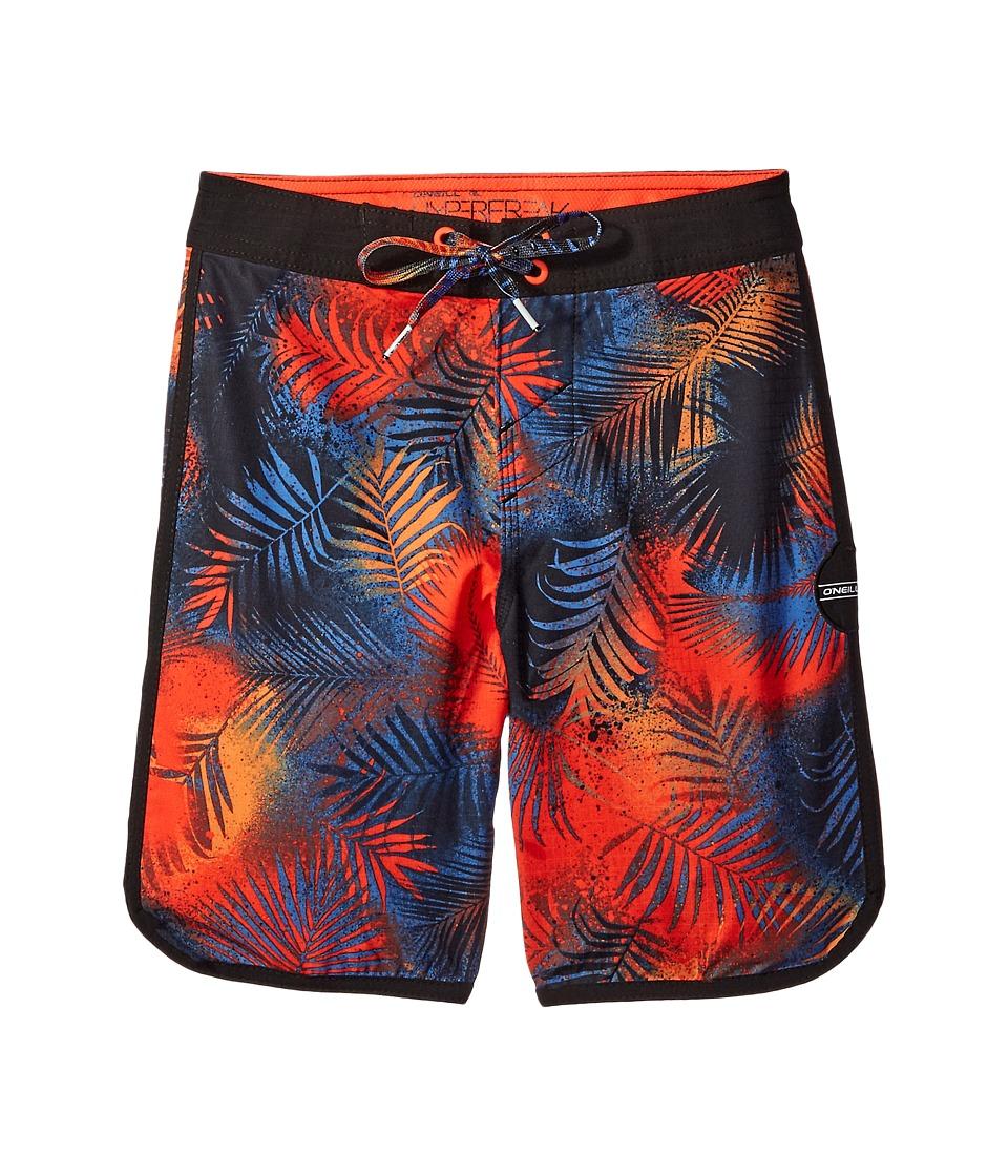 O'Neill Kids - Hyperfreak Napalm Boardshorts (Little Kids) (Neon Red) Boy's Swimwear