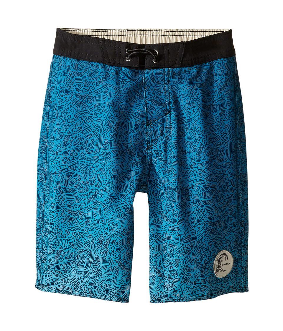 O'Neill Kids - Retrofreak Squiggle Boardshorts (Little Kids) (Aqua) Boy's Swimwear